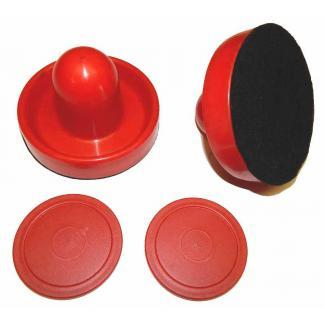 2 Red Mallets 2 red Pucks