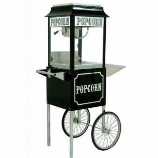 Black Paragon 1911 8 Ounce Popcorn Machine and Antique Cart Combo   moneymachines.com