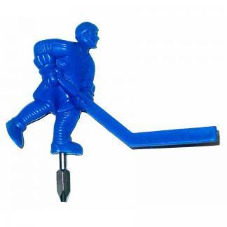 Individual Painted Blue Short Stick Bubble Hockey Man   moneymachines.com