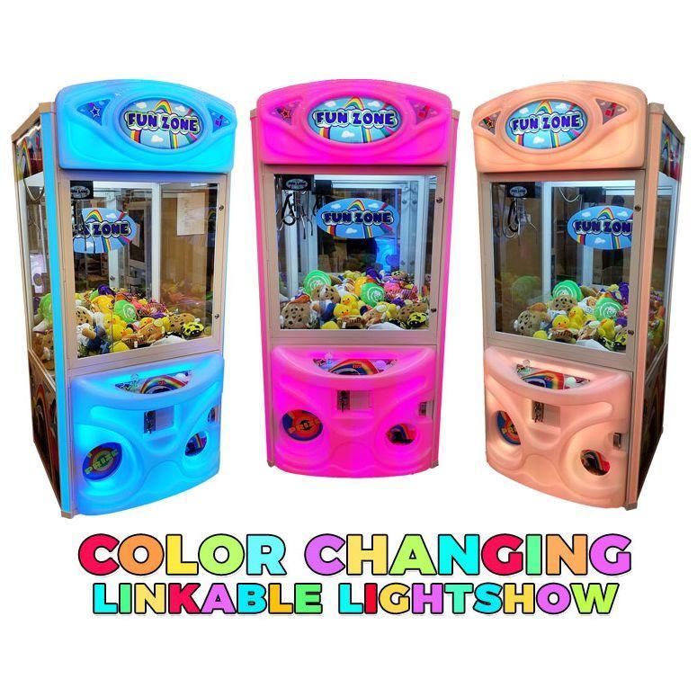 Fun Zone Color Changing Crane Game Machines   moneymachines.com