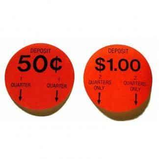 Gumball Machine Pricing Stickers   moneymachines.com