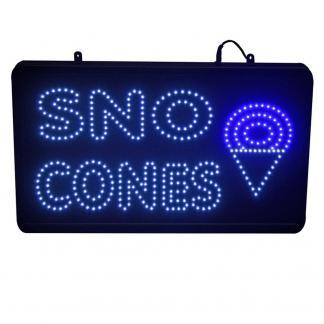 LED Snow Cone Lighted Sign | moneymachines.com