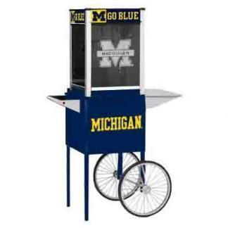 Michigan NCAA College Logo Popcorn Machine | moneymachines.com