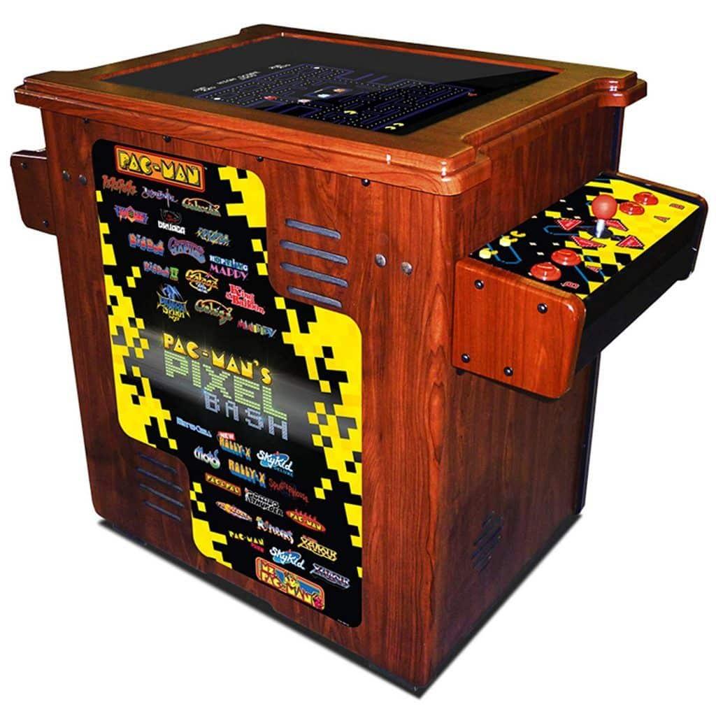 Pac-man's Pixel Bash Cocktail Wood Cabinet Arcade Game - Home Version | moneymachines.com
