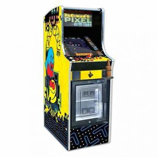 Pacman's Pixel Bash Chill With Mini Fridge Arcade Game Machine | moneymachines.com