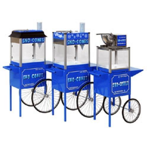 Paragon Snow Cone Machines on cart   moneymachines.com