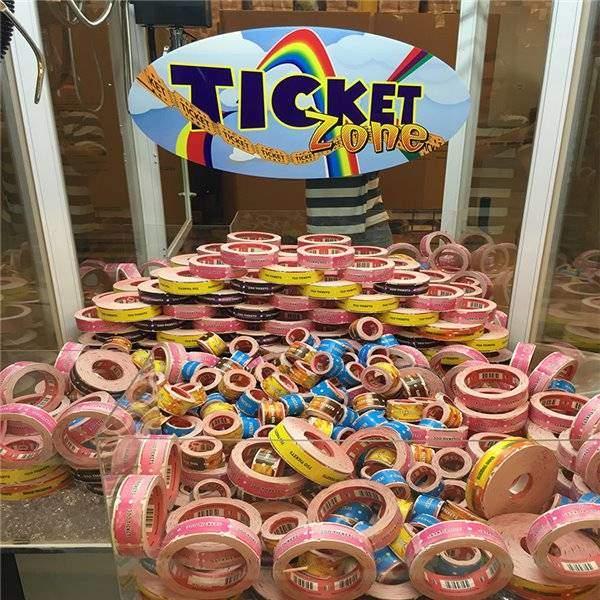 Ticket Zone Tickets In Crane Game Machine | moneymachines.com