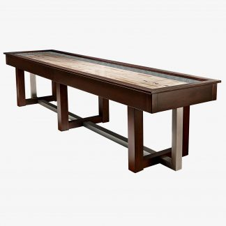 HJ Scott® 12' Abbey Shuffleboard Espresso Stained Maple   SBA12E   moneymachines.com