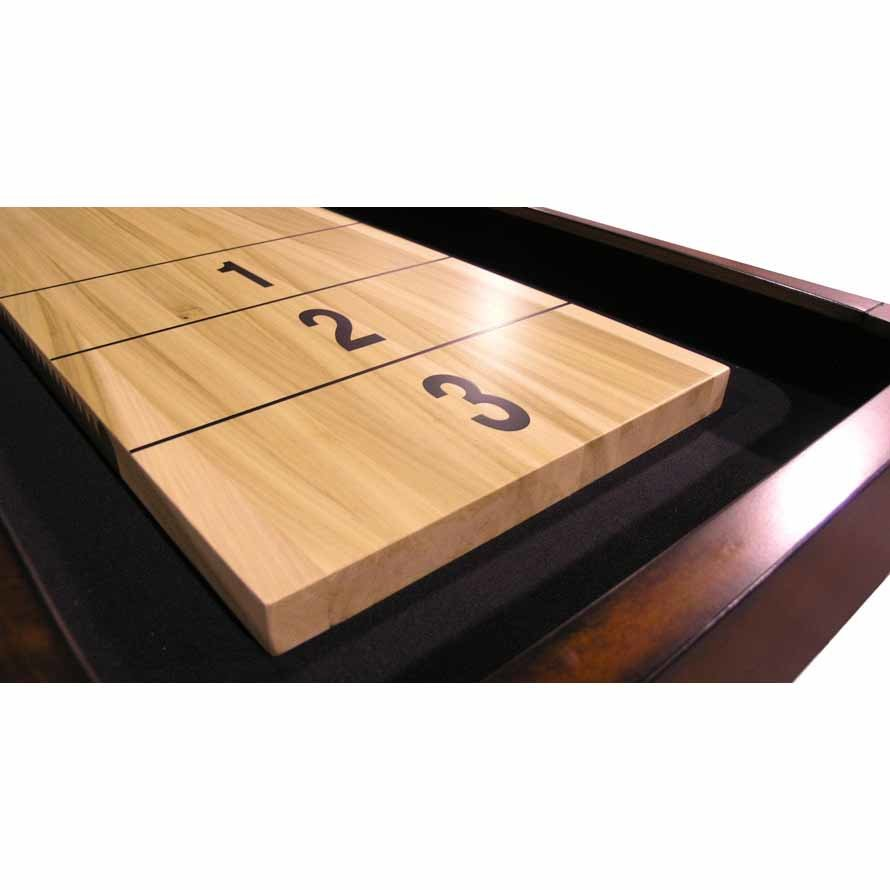 CL Bailey 9 Foot Traditional Mahogany Shuffleboard Table score end | moneymachines.com