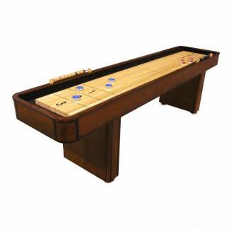 CL Bailey 9 Foot Traditional Warm Chestnut Shuffleboard Table | moneymachines.com