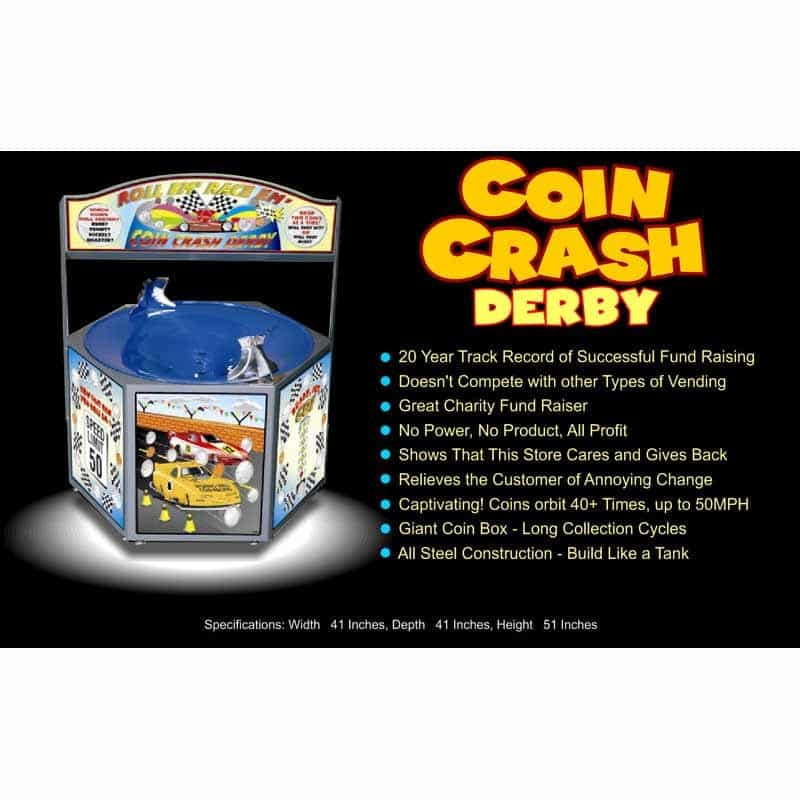 Coin Crash Derby Spiral Coin Funnel | moneymachines.com