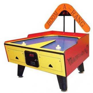 Coin Operated Boom-A-Rang Air Hockey Table With Overhead Electronic Scoring | moneymachines.com