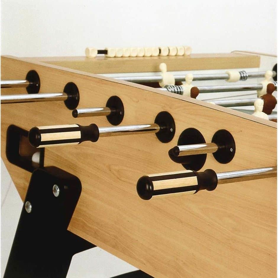 Garlando G-5000 Wood Grained Foosball Table Rods | moneymachines.com