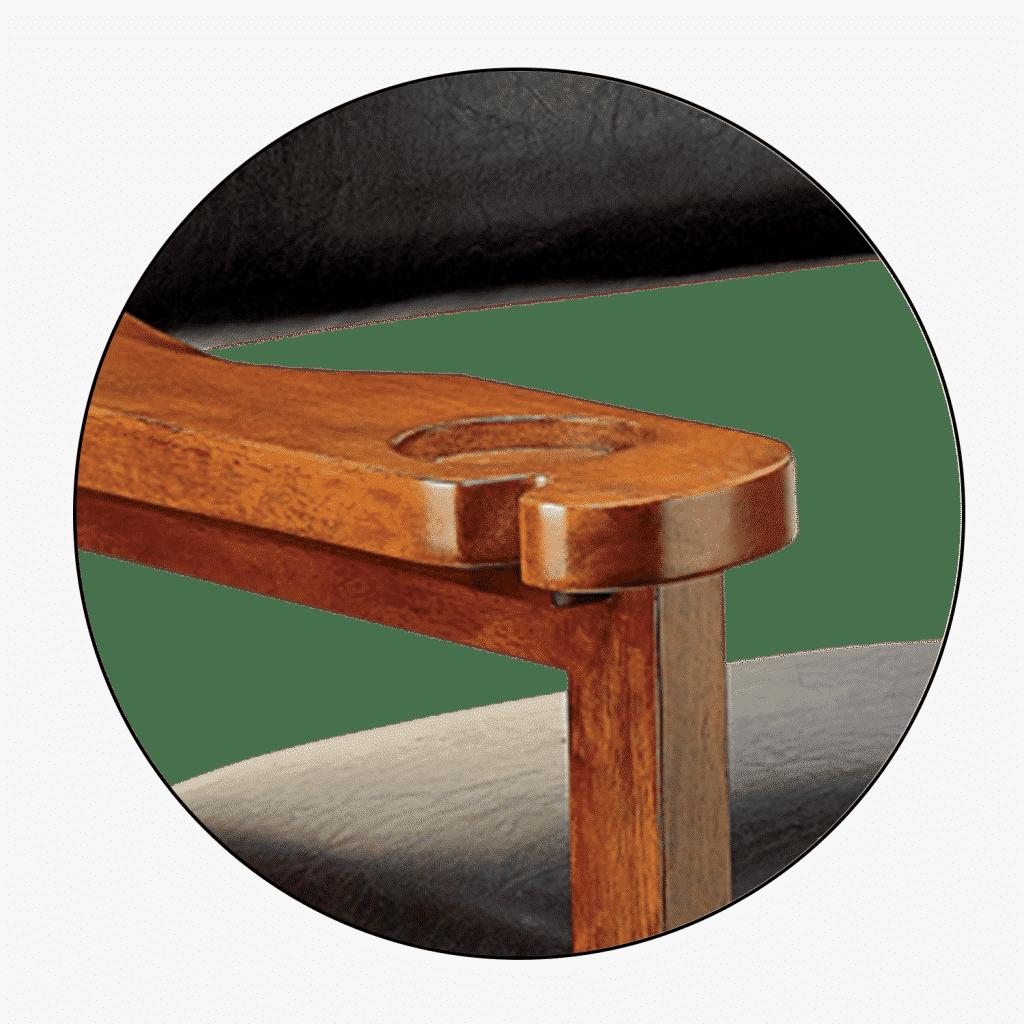 Hi Scott Spectator Chair Cue Holder Detail | moneymachines.com