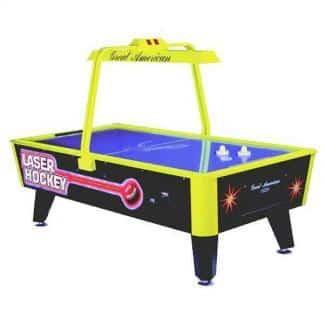 LASER HOCKEY Neon Glow Home Air Hockey Table | moneymachines.com