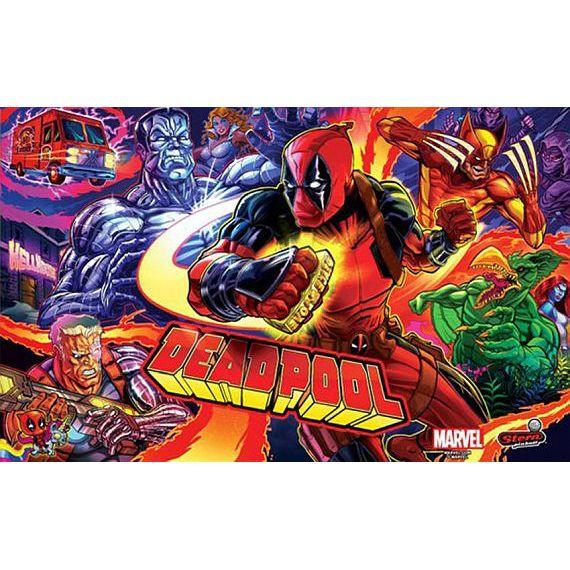 Stern Deadpool Pro Pinball Game Machine Upper Back Glass | moneymachines.com