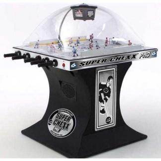 Super Chexx Pro Home Bubble Hockey Table Black Base | moneymachines.com