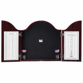 Viper Cambridge Mahogany Dartboard Cabinet - 40-0256 | moneymachines.com