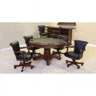 Winslow Game Table Set With 4 V-Back Chairs | moneymachines.com