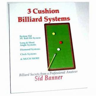 3 Cushion Billiard Systems Book by Sid Banner | moneymachines.com