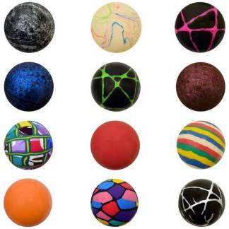 45mm (1 3/4 inch) Assorted Mixed High Bounce Super Balls - 400 Count Case   moneymachines.com