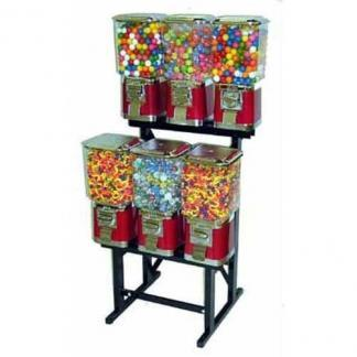 6 Pro Line Vending Machines On Black Rack Stand | moneymachines.com