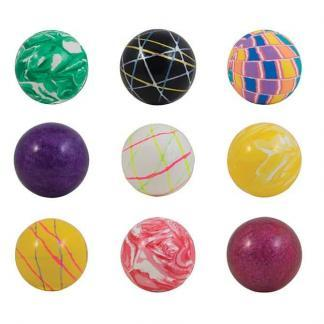 60mm (2.36 inch) Assorted Mixed High Bounce Super Balls - 150 Count Case   moneymachines.com
