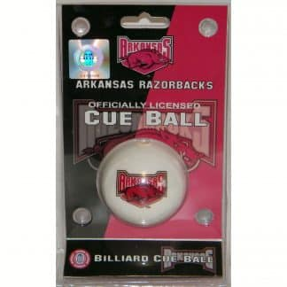 Arkansas Razorbacks Billiard Cue Ball   moneymachines.com