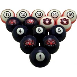 Auburn Tigers Billiard Ball Set | moneymachines.com