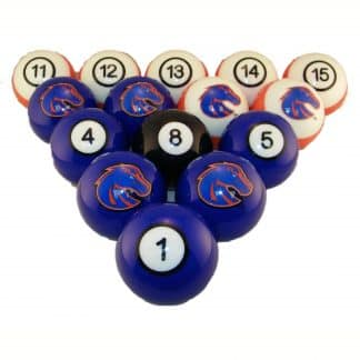 Boise State Broncos Billiard Ball Set | moneymachines.com
