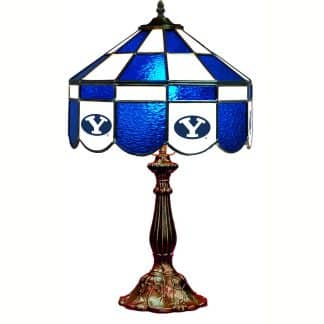 Brigham Young Cougars Stained Glass Table Lamp | moneymachines.com