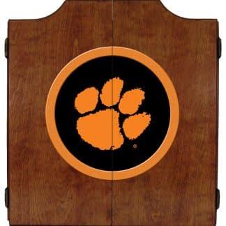Clemson Tigers College Logo Dart Cabinet | moneymachines.com