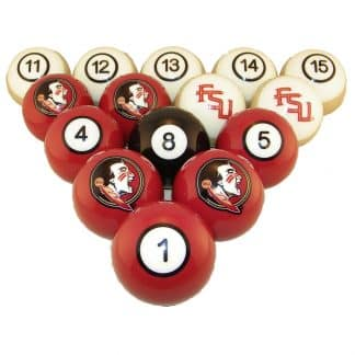 Florida State Seminoles Billiard Ball Set | moneymachines.com