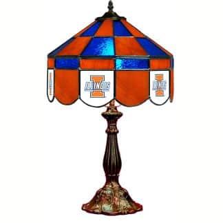 Illinois Fighting Illini Stained Glass Table Lamp | moneymachines.com
