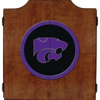 Kansas State Wildcats College Logo Dart Cabinet | moneymachines.com