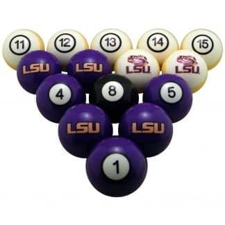 LSU Tigers Billiard Ball Set   moneymachines.com