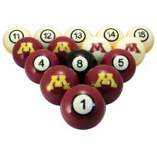 Minnesota Golden Gophers Billiard Ball Set | moneymachines.com