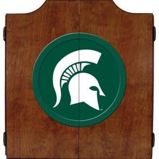 Michigan State Spartans College Logo Dart Cabinet | moneymachines.com