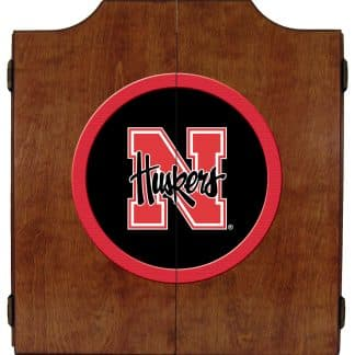 Nebraska Cornhuskers College Logo Dart Cabinet | moneymachines.com