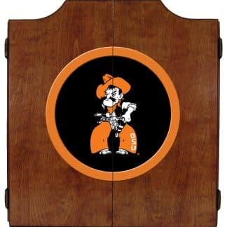 Oklahoma State Cowboys College Logo Dart Cabinet | moneymachines.com