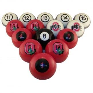 Ohio State Buckeyes Billiard Ball Set | moneymachines.com