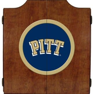 Pittsburgh Panthers College Logo Dart Cabinet | moneymachines.com