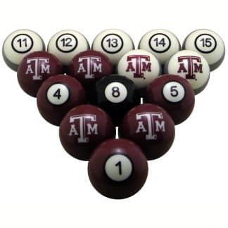 Texas A&M Aggies Billiard Ball Set | moneymachines.com