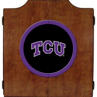 TCU Horned Frogs College Logo Dart Cabinet | moneymachines.com