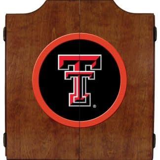 Texas Tech Red Raiders College Logo Dart Cabinet | moneymachines.com