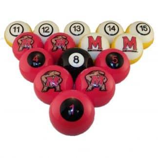 Maryland Terrapins Billiard Ball Set | moneymachines.com