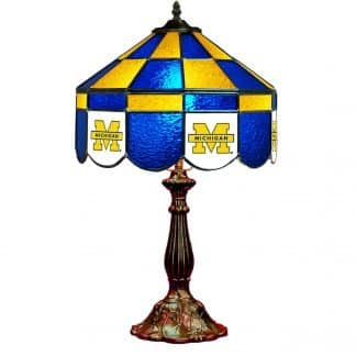 Michigan Wolverines Stained Glass Table Lamp | moneymachines.com