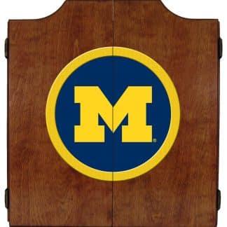 Michigan Wolverines College Logo Dart Cabinet | moneymachines.com