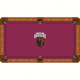 Montana Grizzlies Billiard Table Cloth   moneymachines.com