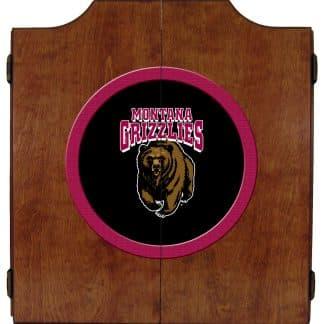 Montana Grizzlies College Logo Dart Cabinet   moneymachines.com